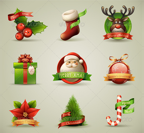Merry Christmas Icons Collection
