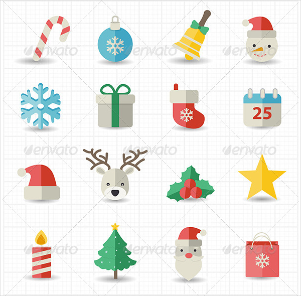 Christmas Celebration Design Icons