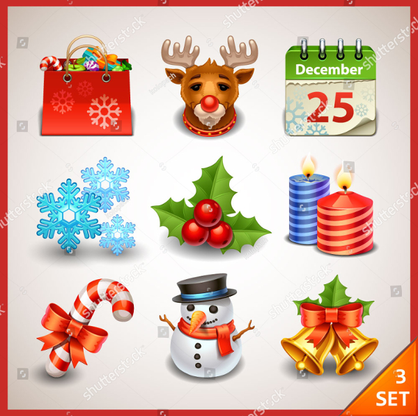 Christmas Funny Icon Collection