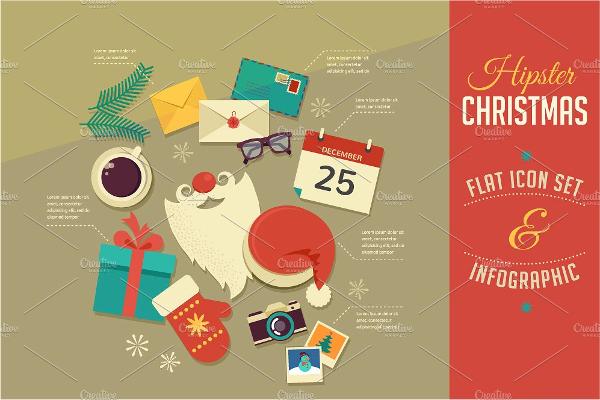 Christmas Infographics Flat Icons
