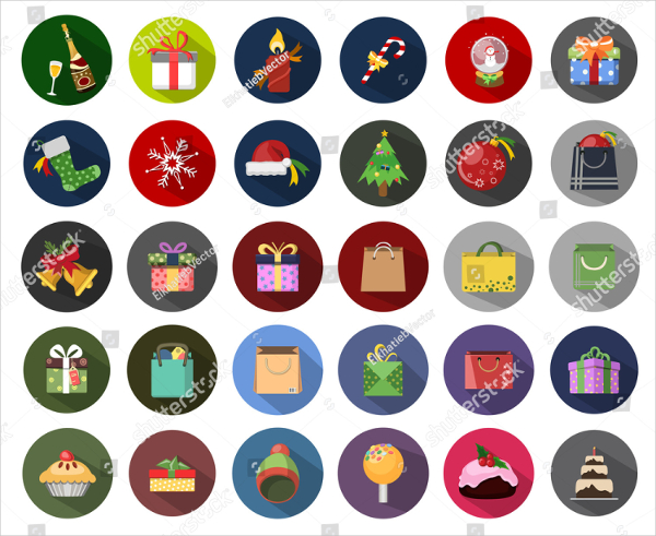 Christmas New Year Icons
