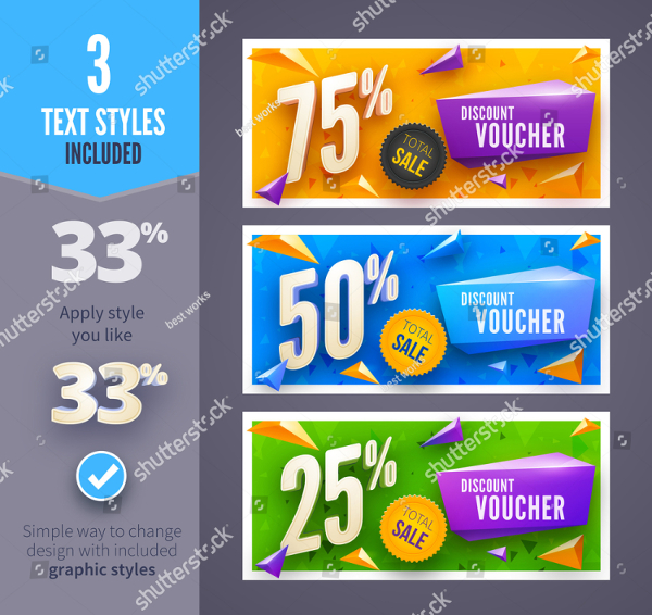 Discount Voucher With Clean And Modern Pattern