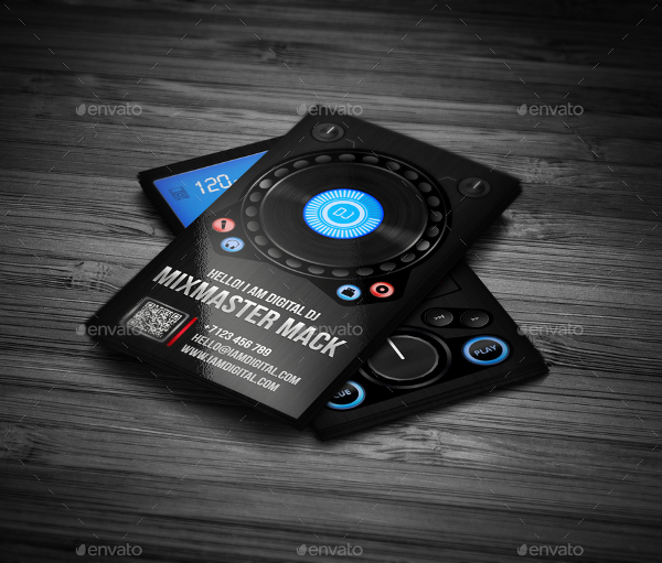 DJ Business Cards for Night Club Professionals