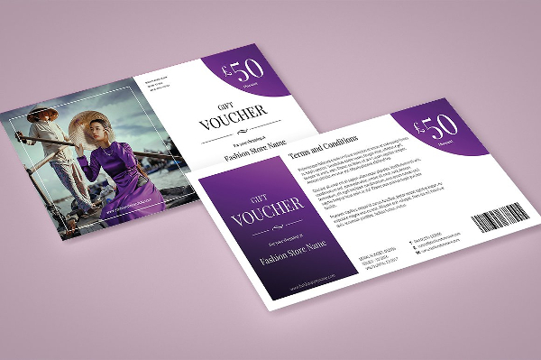 Fashion Store Discount Voucher Template