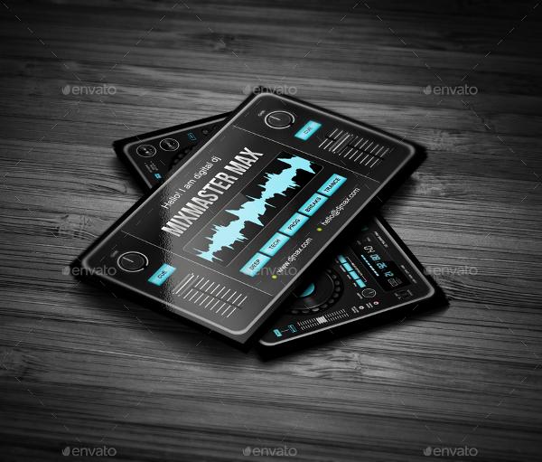 Perfect DJ Digital Business Card Template