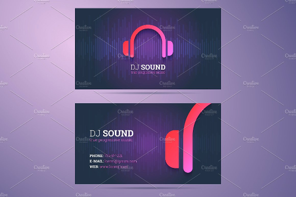 Business Card Template for DJ and Music Business