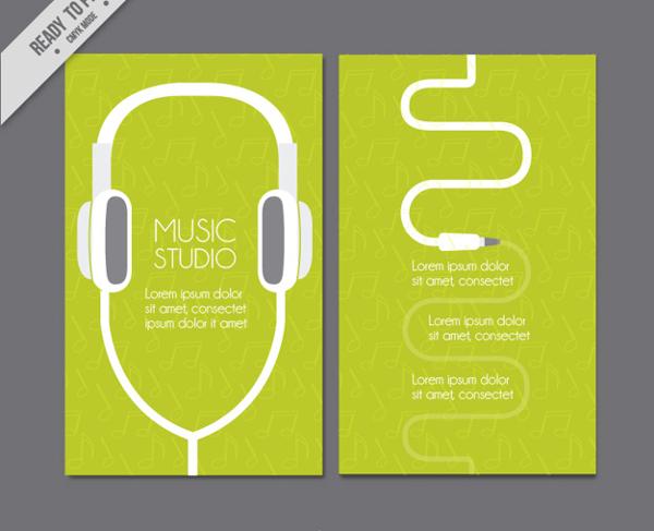 DJ & Music Studio Business Card Template Free