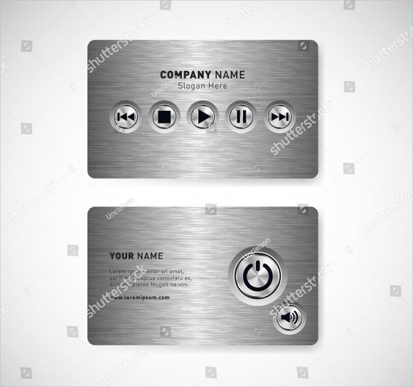 DJ Equipment Business Card Template