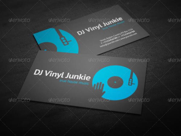 Unique DJ Business Cards Template