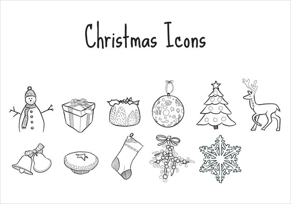 Free Illustrated Christmas Vector Icons