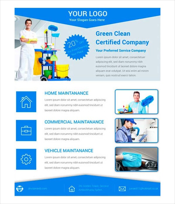 21 Cleaning Flyer Free Premium Adobe Photoshop Illustrator Formats