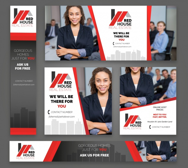 18 Real Estate Banner Free Premium Psd Png Eps Vector Downloads