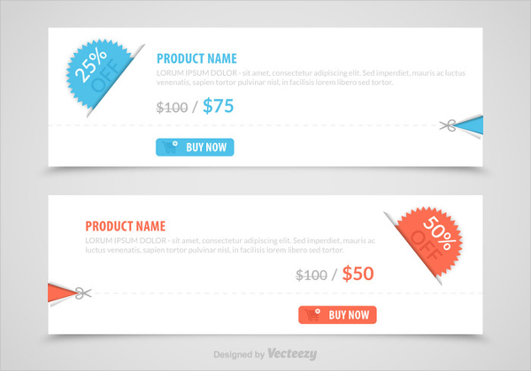 Free Discount Vector Coupons