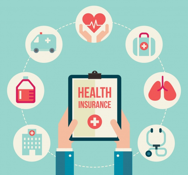 Free Composition Health Insurance Icons