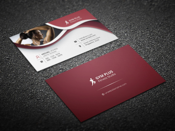 attractive fitness business cards - Fitness Business Cards