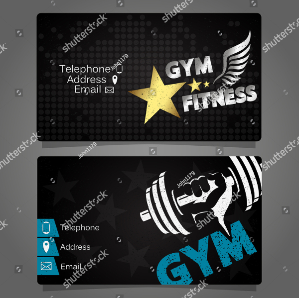 22  gym business cards
