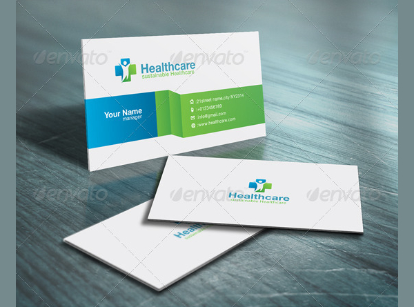 Attractive Healthcare Business Cards Template
