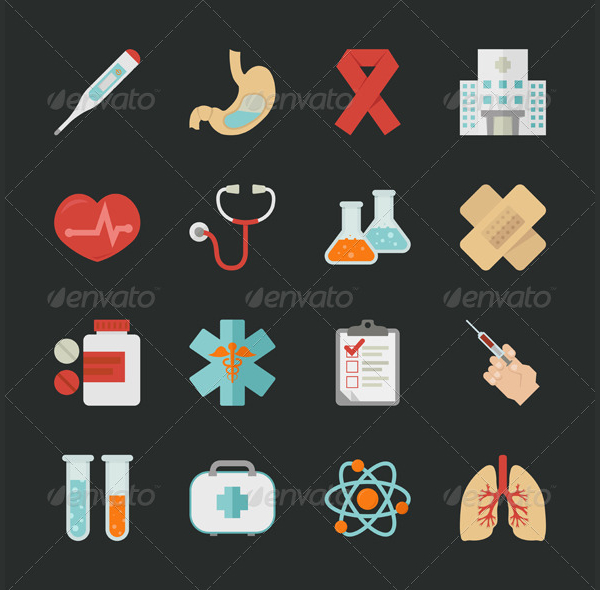 Health and Medical Design Icons Template