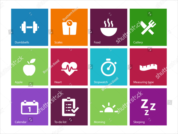 Colorful Health Care Icons Designs