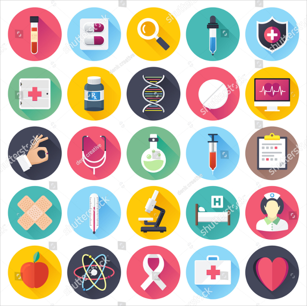Health Care and Medicine Illustrations Icons