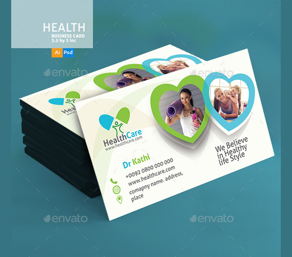 Healthy Life Medical Business Cards