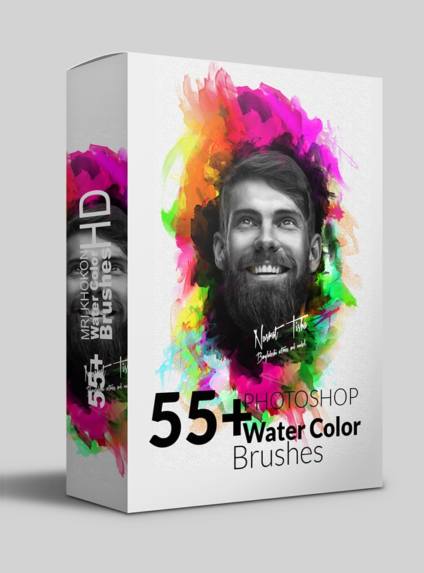 55+ Hires Watercolor Photoshop Brushes