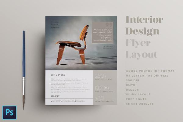 Interior Design Flyer Layout
