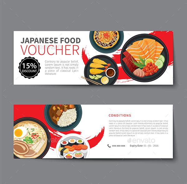 Japanese Food Voucher Discount Template