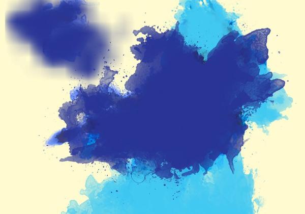 Large Watercolor Splatter PSD Brushes