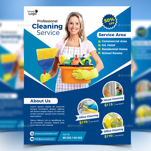 21 cleaning flyer free premium adobe photoshop illustrator formats. Black Bedroom Furniture Sets. Home Design Ideas
