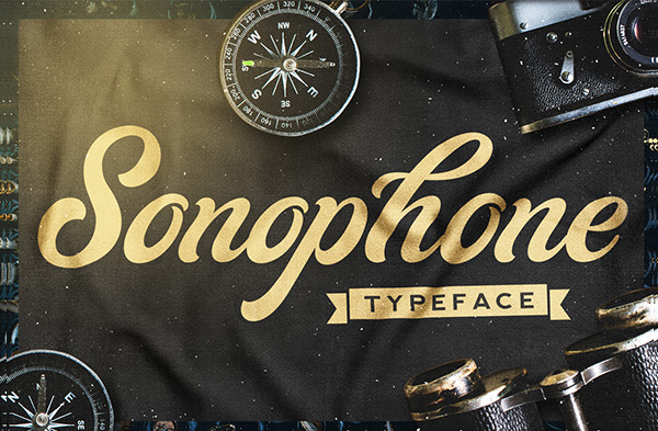Sonophone Crafted Script Font