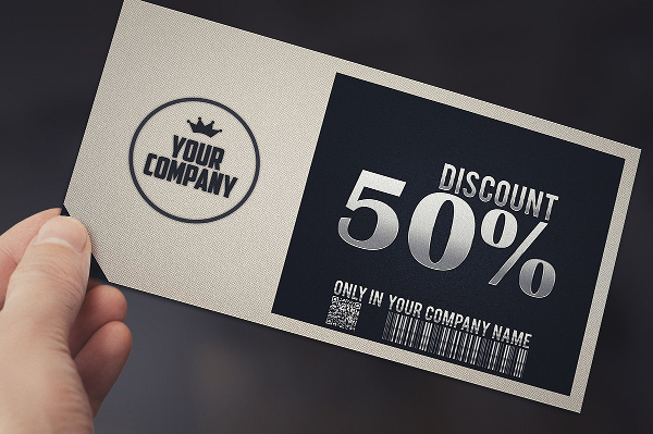 Stylish Simple Discount Gift Voucher Template