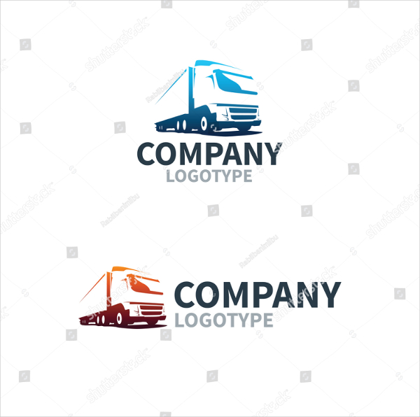 Truck Logistics Delivery Logo