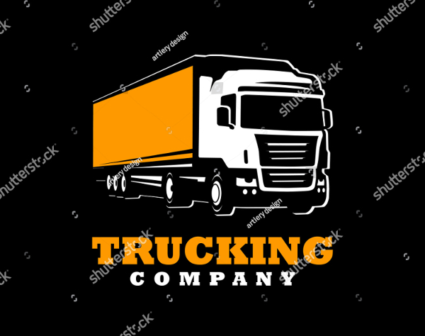 Trailer Truck Design Logo Template
