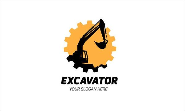 Truck Excavator Logo Design