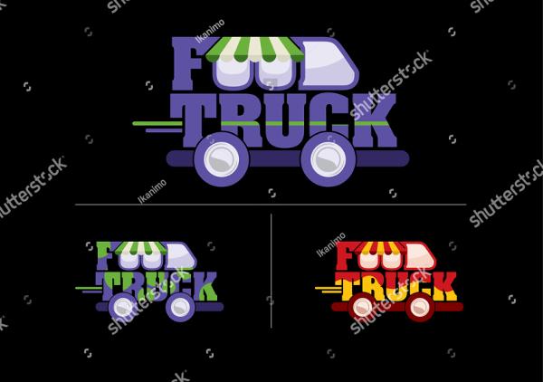 Typhography Food Truck Design Logo