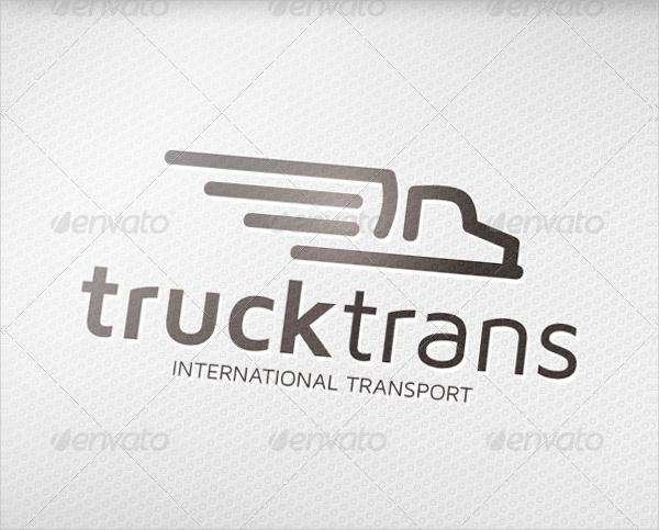 Truck Transport Design Logo
