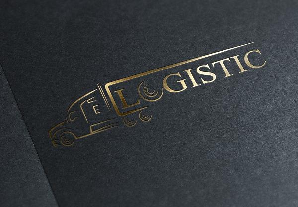 Attractive Logistic Truck Design Logo