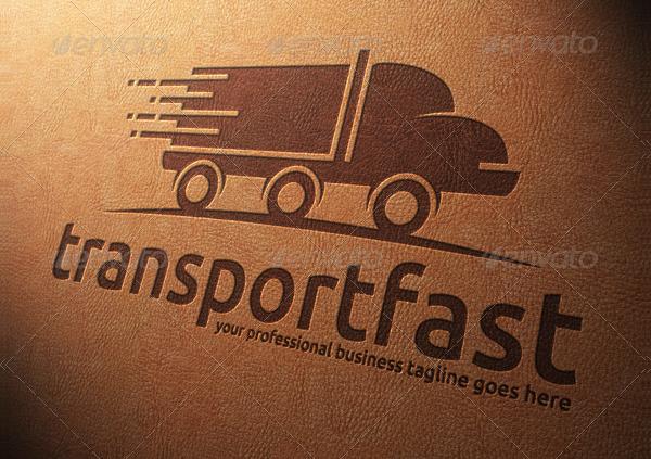 Fast Truck Transport Logo Template