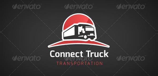 Truck Transportation Logo Template