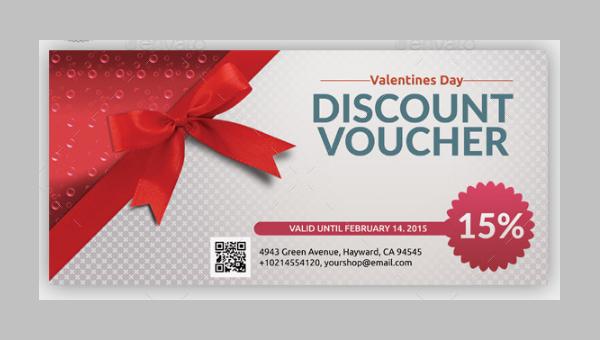 Valentines Discount Voucher Templates