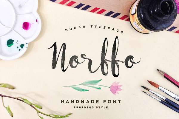 Watercolor Font Photoshop Brushes