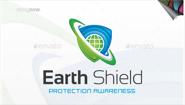 Administration Earth Shield Logo Template