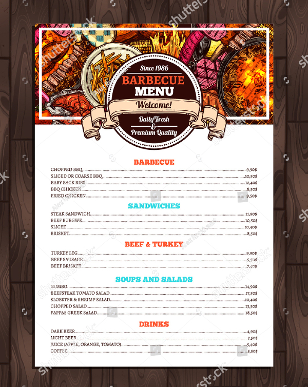 23 bbq menu templates free premium psd eps illustrator downloads. Black Bedroom Furniture Sets. Home Design Ideas