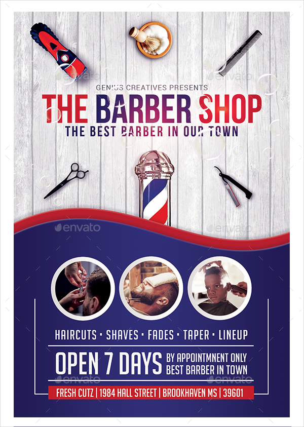 18  barber shop flyer templates