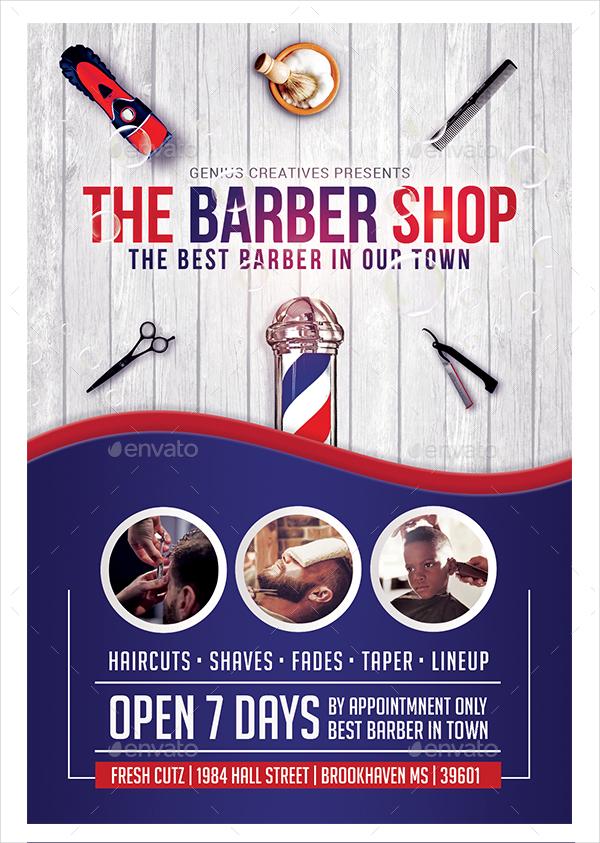 Vintage Barbershop 18+ Barber Shop Flyer ...