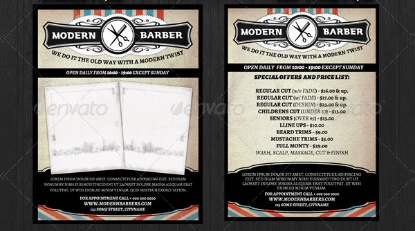 Barber Shop Promotional Flyer Template