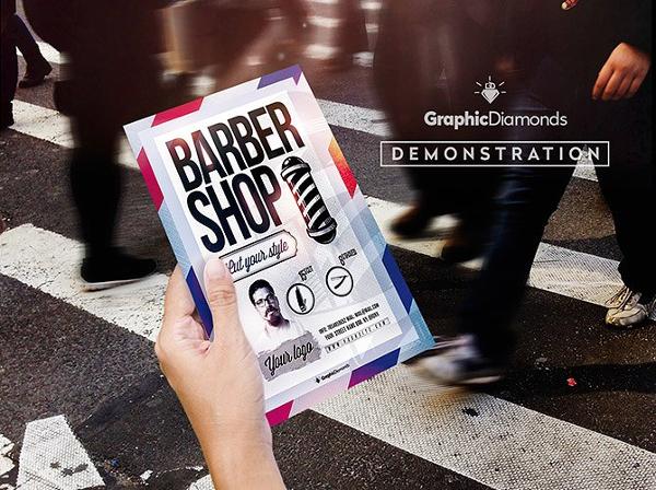 Barber Shop PSd Flyer Template