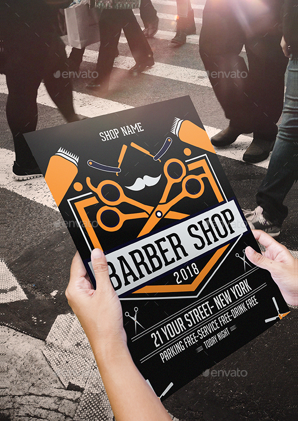 Perfect Barber Business Flyer Template