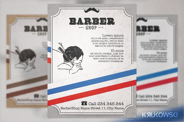 Barber Shop Vintage Flyer